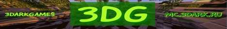 Баннер сервера Minecraft 3DarkGames