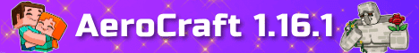 Баннер сервера Minecraft AeroCraft 1.16.1
