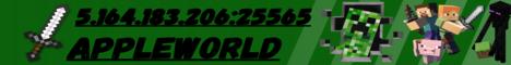Баннер сервера Minecraft AppleWorld