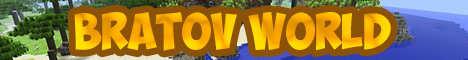 Баннер сервера Minecraft Bratov World