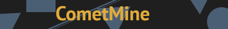 Баннер сервера Minecraft CometMine