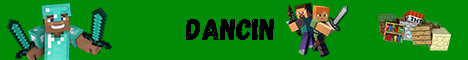 Баннер сервера Minecraft Dancin