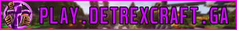 Баннер сервера Minecraft DeTrexCraft