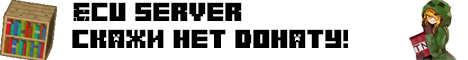 Баннер сервера Minecraft ECU server ely.by