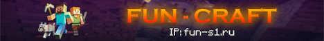Баннер сервера Minecraft FUN CRAFT
