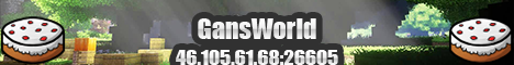 Баннер сервера Minecraft GansWorld