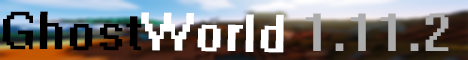 Баннер сервера Minecraft GhostWorld