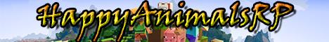 Баннер сервера Minecraft HappyAnimalsPR