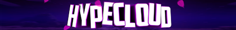 Баннер сервера Minecraft HypeCloud