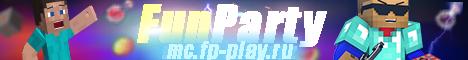 Баннер сервера Minecraft FUNPARTY