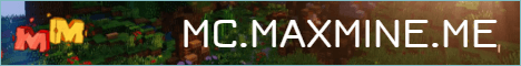 Баннер сервера Minecraft MaxMine Network