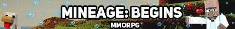 Баннер сервера Minecraft MineAge Begins