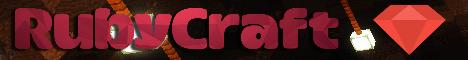 Баннер сервера Minecraft RubyCraft