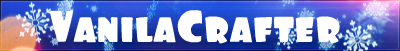 Баннер сервера Minecraft VanilaCrafter
