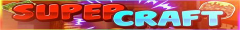 Баннер сервера Minecraft SuperCraft