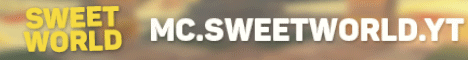 Баннер сервера Minecraft SweetWorld