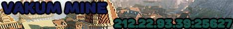 Баннер сервера Minecraft VakuMCraft