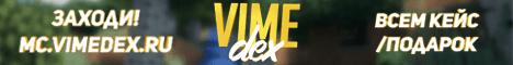 Баннер сервера Minecraft VimeDex