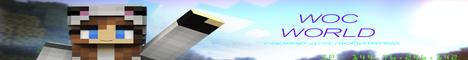 Баннер сервера Minecraft WOCWorld -