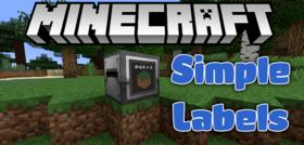 Скачать SimpleLabels для Minecraft 1.9