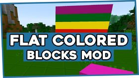 Скачать Flat Colored Blocks для Minecraft 1.8
