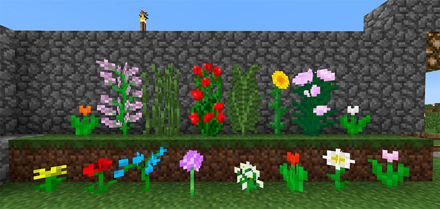 Цветы Майнкрафт