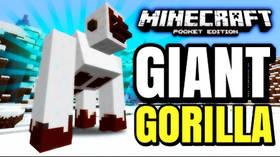 Скачать Giant Snow Gorilla для Minecraft PE 1.1