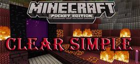 Скачать Clear Simple для Minecraft PE 1.2