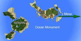 -1828973848: Деревня на острове и подводная крепость | Сид Minecraft PE