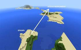 1849614853: Подводная крепость рядом со спавном | Сид Minecraft PE