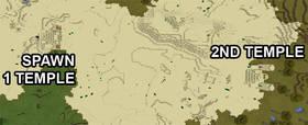 -1950666809: Два пустынных храма на спавне | Сид Minecraft PE