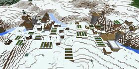 -114373476: Двойная снежная деревня и лес | Сид Minecraft PE