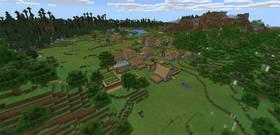 1831368756: Четыре деревни рядом со спавном | Сид Minecraft PE