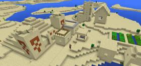 426339708: Храм в пустынной деревне | Сид Minecraft PE