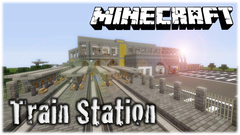 Майнкрафт карта ж д вокзал