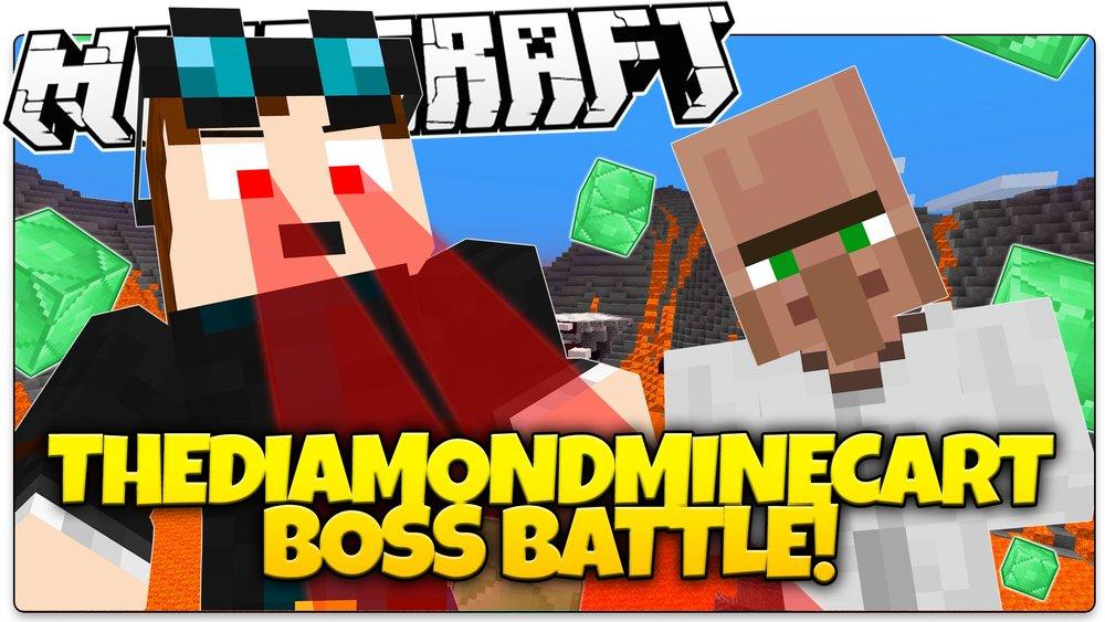 TheDiamondMinecart Boss Battle скриншот 1