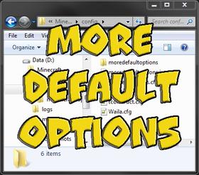 Скачать More Default Options для Minecraft 1.10.2