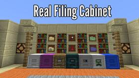 Скачать Real Filing Cabinet для Minecraft 1.12