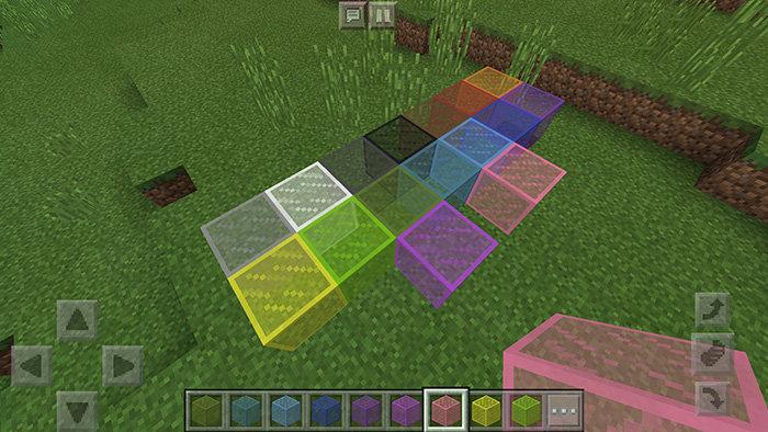 Окрашенное стекло в Minecraft 1.2