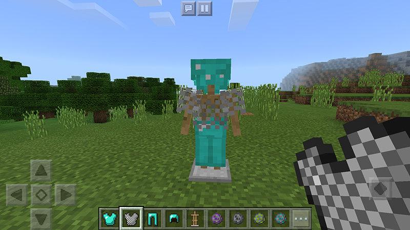 Стойка для брони в Minecraft PE 1.2