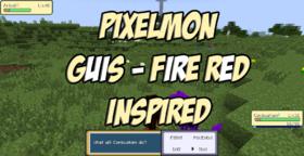 Скачать Pixelmon guis - Fire Red inspired для Minecraft 1.10.2