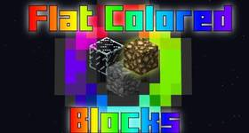 Скачать Flat Colored Blocks для Minecraft 1.11.2