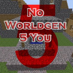 Скачать No Worldgen 5 You для Minecraft 1.12.1