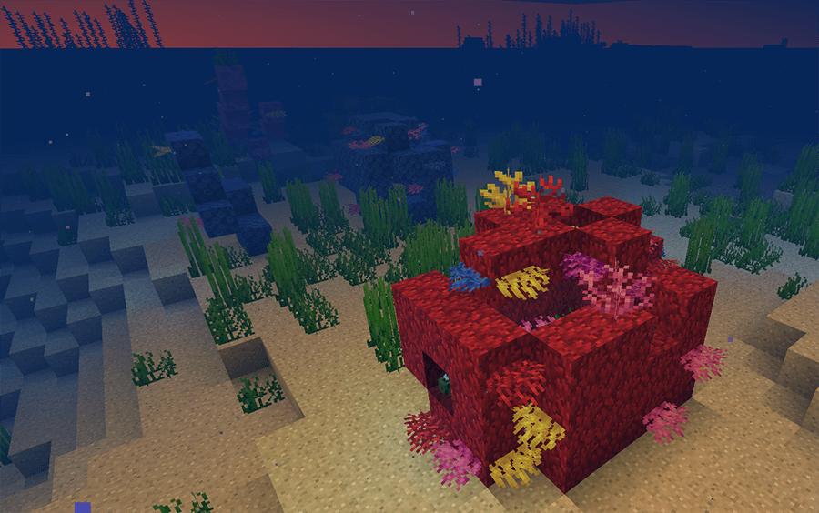 Коралловый риф в Minecraft 1.13
