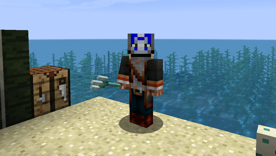 Трезубец в Minecraft 1.13
