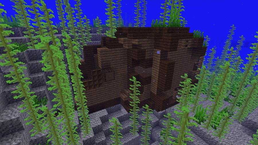 Затонувшие корабли в Minecraft 1.13