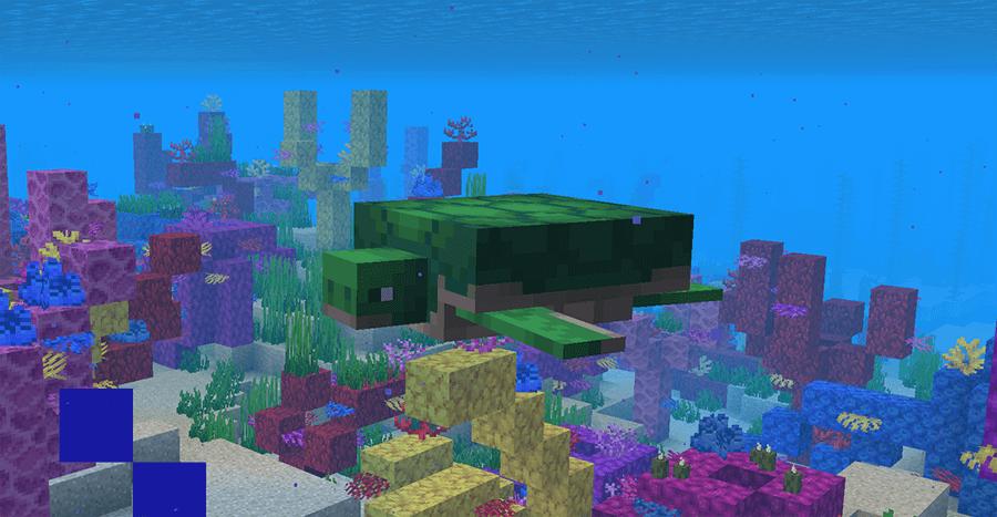 Черепаха в Minecraft 1.13