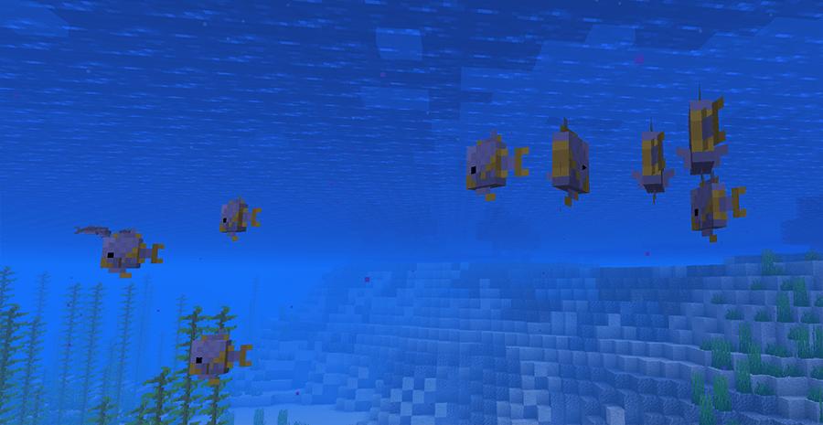 Рыбы в Minecraft 1.13