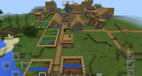 1375876636: Большая деревня | Сид Minecraft PE