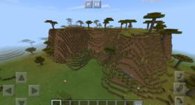 -180855225: Огромный биом Саванны | Сид Minecraft PE